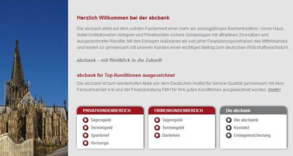abcbank Webauftritt