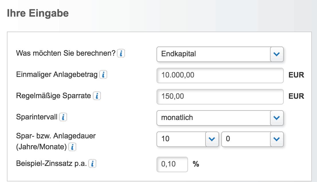 Interessierte können bei CRONBANK einen Rechner zur Kalkulation nutzen