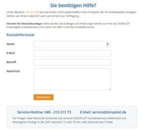 Kundendienst-Zinspilot