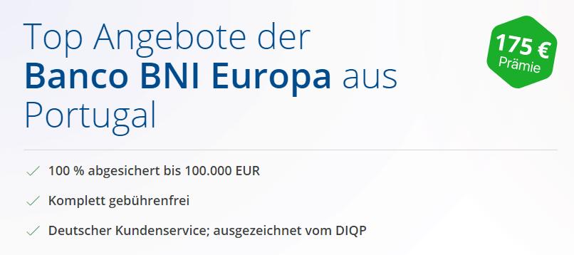 Banco BNI Festgeldkonto Test