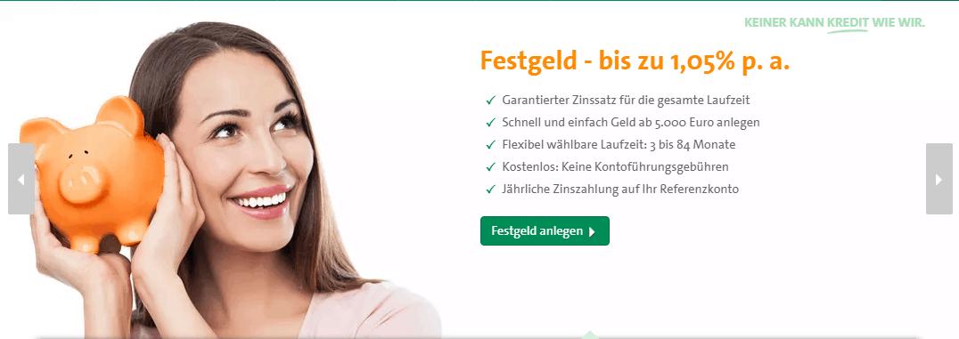 CreditPlus Festgeldkonto Test