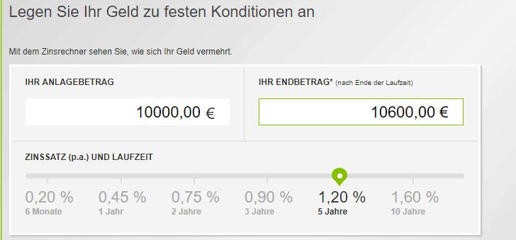 pbb direkt Festgeldkonto Test