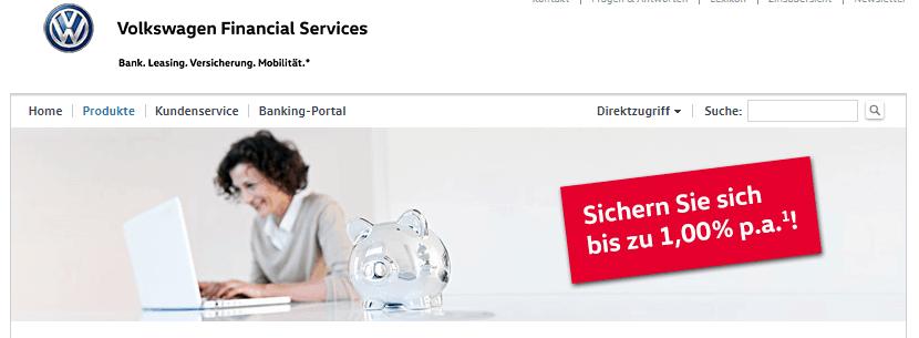 Volkswagen Bank Festgeldkonto Erfahrungen