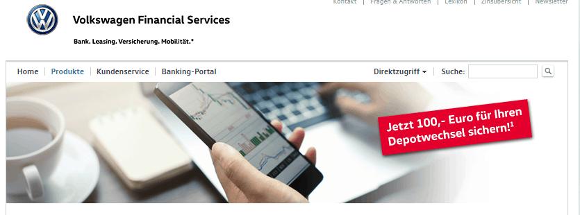 Volkswagen Bank Festgeldkonto Test