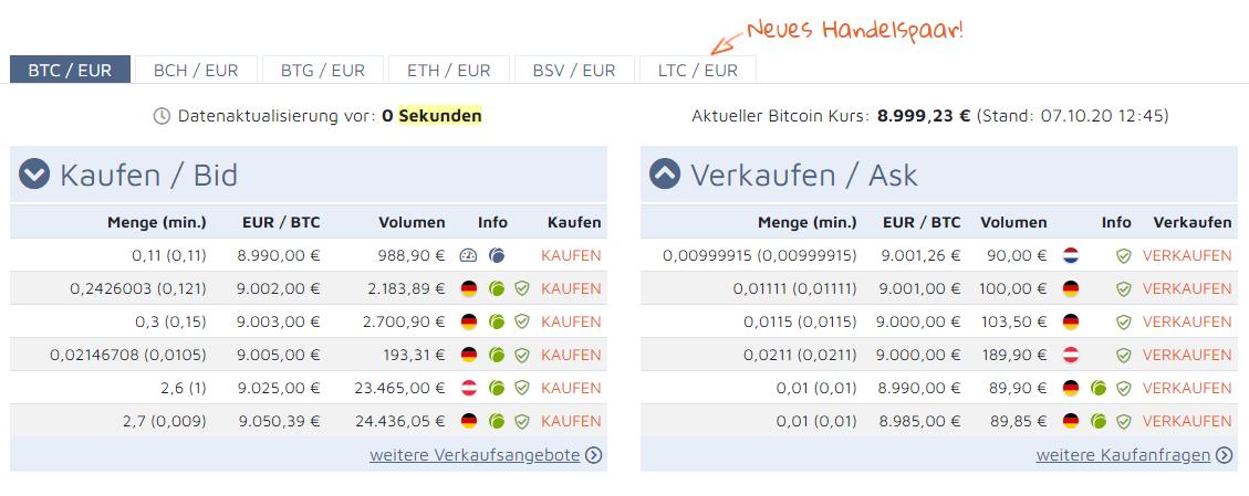 Bitcoin.de Handel - Bitcoin Ratgeber