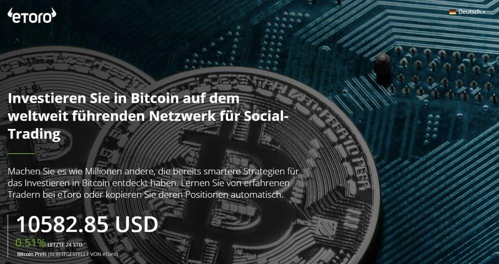 eToro Website - Social-Trading mit Bitcoins - Bitcoin Ratgeber