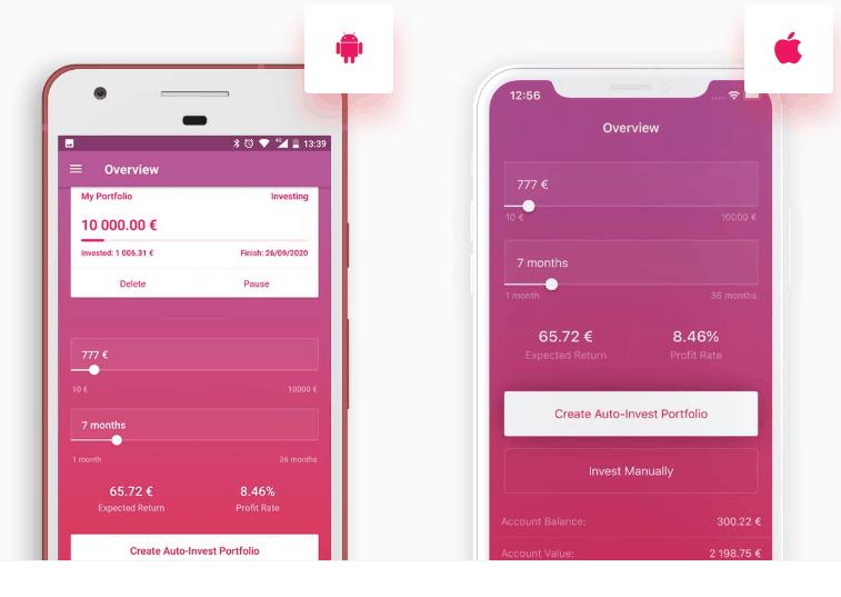 Swaper App für Android und iOS