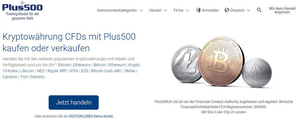 Plus500 Kryptowährungen - Bitcoin kaufen mit PayPal