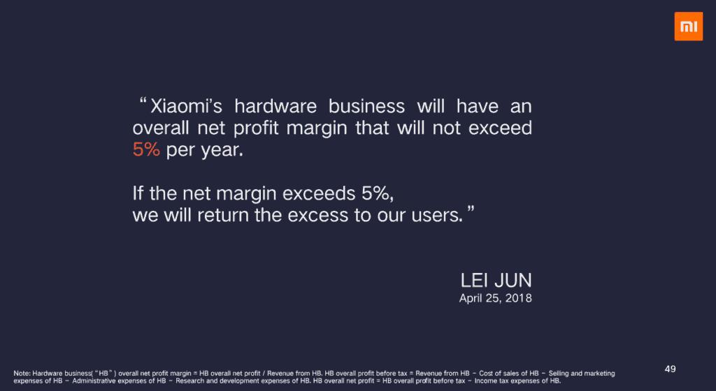 Präsentationt Xiaomi 2018 Wir wollen nur 5% Gewinn - xiaomi aktie