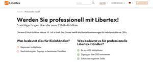 Libertex Kritik