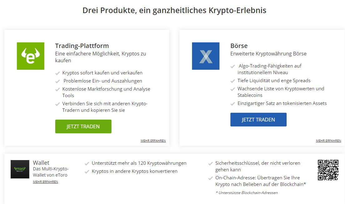 eToro Kryptowährungen - Seriöse Bitcoin Broker