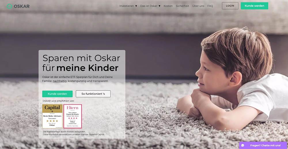 Kinder - Oskar ETF Erfahrungen