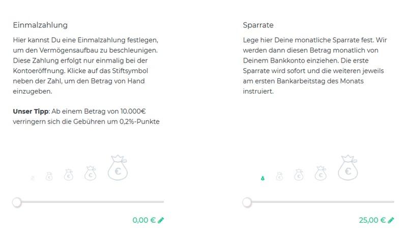 Einmalzahlung oder Sparrate - Oskar ETF Erfahrungen