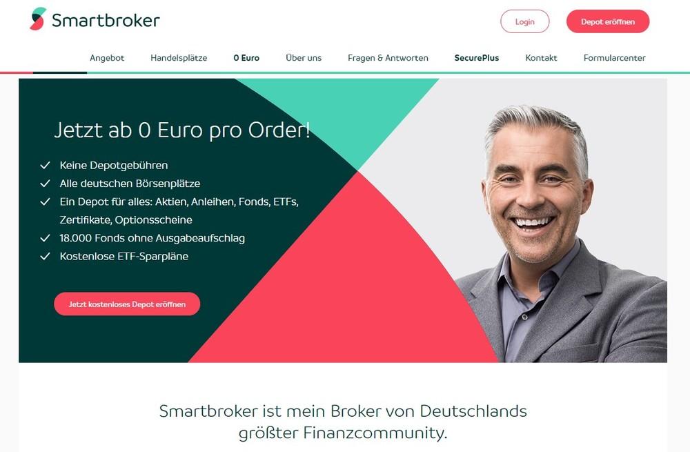 Mann freut sich über Handelsaufforderung: Jetzt ab 0 Euro je Order