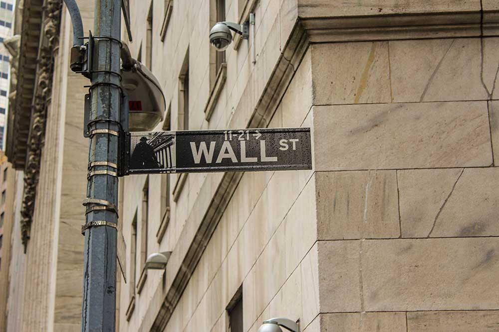 Börsenplätze: Wall Street, New York City, USA