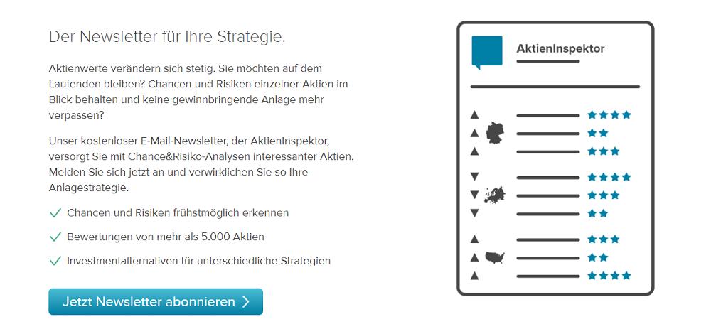 Consorsbank Aktieninspektor Screenshot