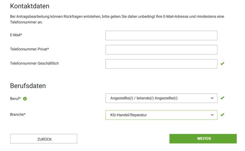 kontaktdaten formular