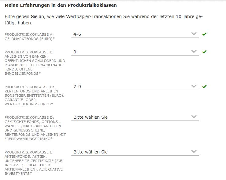 Commerzbank Produktrisikoklassen A-E - commerzbank depot erfahrungen