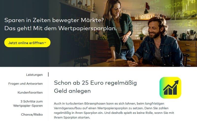 comdirect Sparplan - Halbe Aktien kaufen