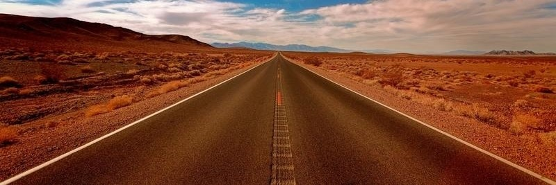 Wüste Straße
