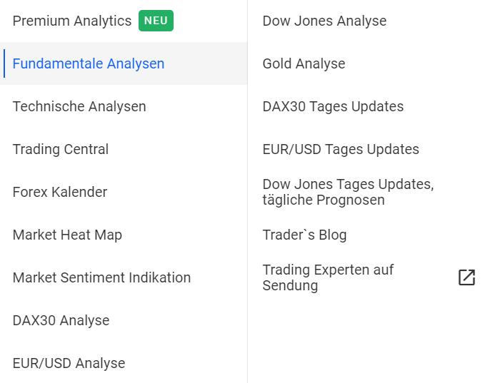 Admiral Markets Analysen