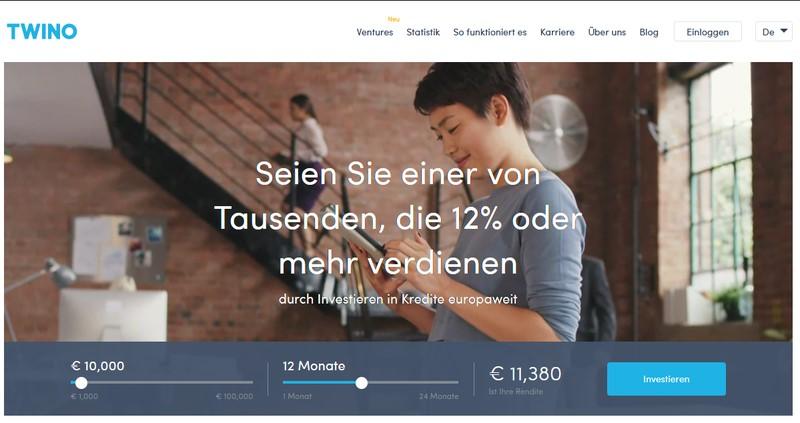 Website Twino - p2p Plattformen Vergleich