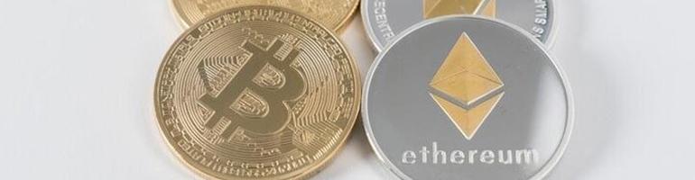 Bitcoin Ethereum Münzen