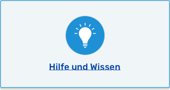 Hilfe und Wissen Button