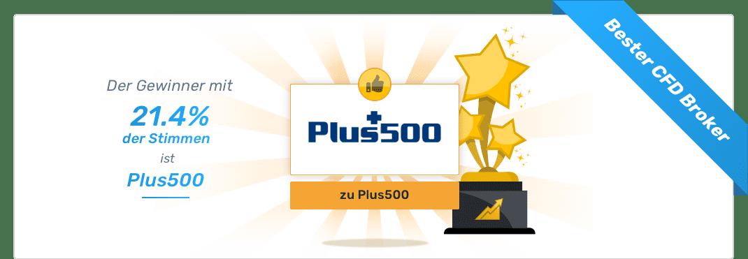 Gesamtsieger - Bester CFD Broker - Plus500