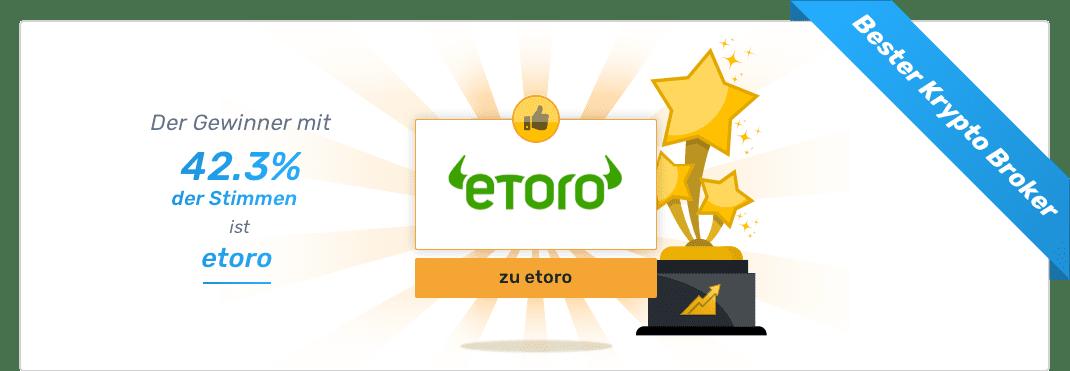 Gesamtsieger - Bester Krypto Broker - eToro
