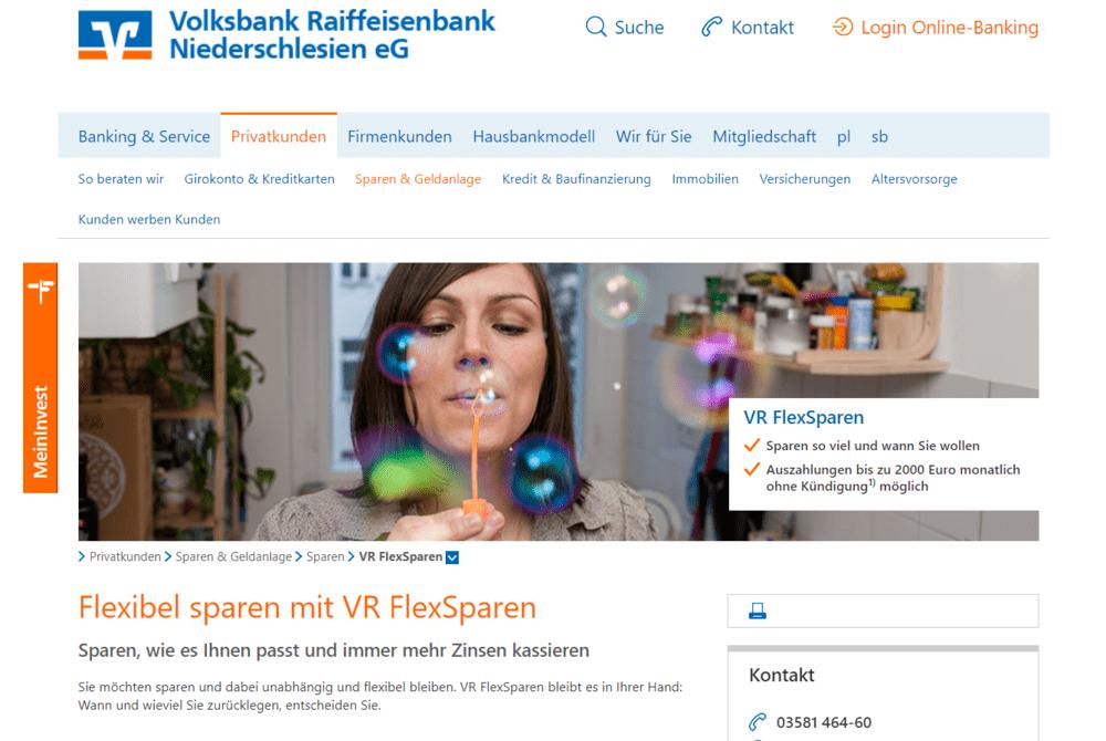 Volksbank Homepage - Privatkunden - Negativzinsen