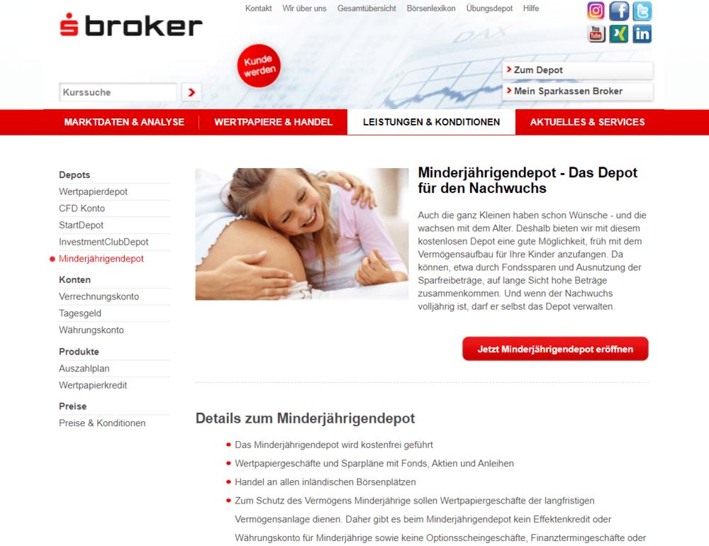 Minderjährigendepot S Broker - etf sparplan kinder