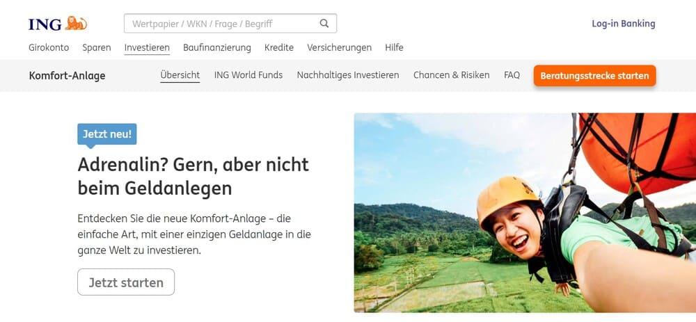 ING Website - ING Komfort Anlage